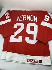 Mike Vernon Detroit Red Wings NHL Vintage CCM Jersey Men's Size XL