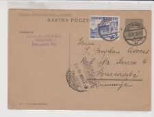 POLAND Uprated Postal Card to Romania of 1936