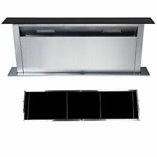 Cookology CDD900BK 90cm Downdraft Extractor Fan & Recirculating Carbon