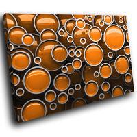 ZAB1106 Orange Black Modern Retro Canvas Abstract Home Wall Art Picture Prints