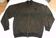 Live Mechanics full-zip striped track jacket black/yellow men sz 2XL