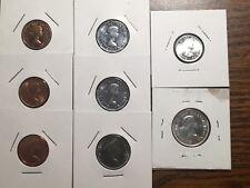Vintage BU-UNC Canadian Coins **SILVER** Pennies, Nickels, Dime, Quarter
