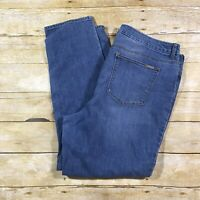 CHICOS So Slimming Girlfriend Ankle Jeans Womens Sz 3 (16) Medium Wash Stretch