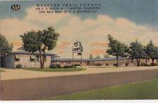 Postcard Western Trail Courts Lawton OK 1957