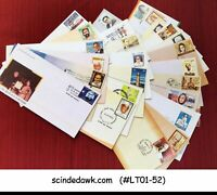 INDIA - SELECTED FIRST DAY COVERS AND SPECIAL COVERS OF FAMOUS PEOPLE 25 nos.