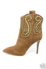 Michael Kors Reena Studded Caramel Ankle Boots Size 8