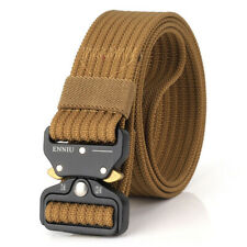 """1.5"""" Mens Tactical Belts Military Style Quick Release Metal Buckle Nylon Belt"""