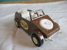 Vintage tootsie toy die cast brown kubelwagen German military vehicle eagle