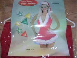 LADIES CHRISTMAS DRESS & HAT JULIES FANCY DRESS FREEPOST!!