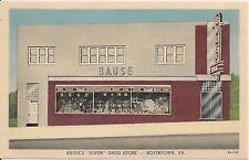 Bause's Super Drug Store Boyertown PA Postcard