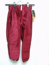 Youth Football Pants Game Practice Slot Burgundy Small
