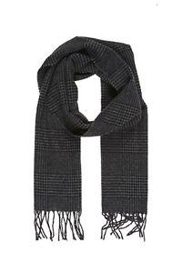 écharpe laine mélangée PIERRE CARDIN imprimé noir/gris foncé - neuf