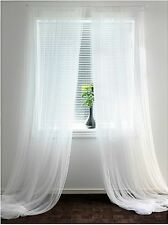 "IKEA LILL Sheer Curtains 4 panels (2 packages)-Each panel 110""x98""-Priority Mail"