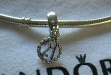 Authentic Genuine Pandora Silver 21 Dangle Charm 790496