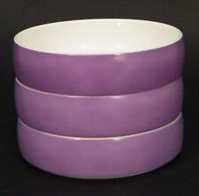 """3 MiD CENTURY BLOCK CHROMATiCS GERMANY RED LAVENDER 5.75"""" CEREAL BOWL #40044"""