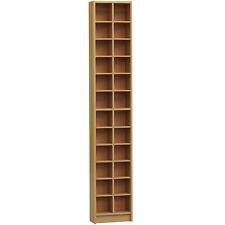 BLOK - Tall Sleek 360 CD / 160 DVD Storage Tower Shelves OAK - MS1002