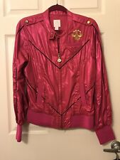 DEREON Women's Hot Pink / Gold Jacket NEW sz L LARGE