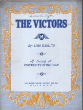 The Victors March 1928 U of Michigan - College Football Sheet Music