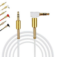 3.5mm Jack Audio Cable Male To Male 90 Degree Right Angle Aux Cable Audio Cable