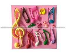 Multi Music Note Silicone Mold Mould Fondant Mat Cake Decorating Tool