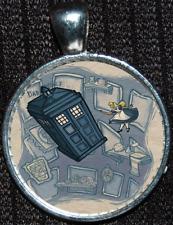 Disney Alice Wonderland Doctor Who Tardis Police Box Pendant Jewelry Necklace