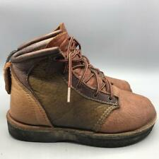 Vintage Patchwork Leather Hiking Walking Boots Vibram Sole Womens Size 6.5