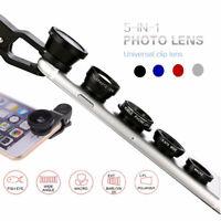 5 in 1 Universal Phone Lens Kits Camera Clip Fisheye Wide Angle Macro Telephoto