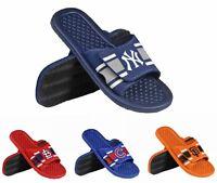MLB Team Logo Mens Stripe Shower Slide Flip Flops - Pick Team