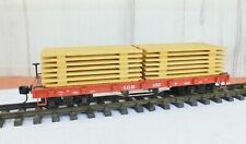 LGB FLAT CAR with WOOD LOAD