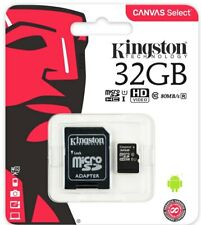 Kingston Canvas 32GB Class 10 MicroSDHC MicroSD Memory Card -  SDSG32GB