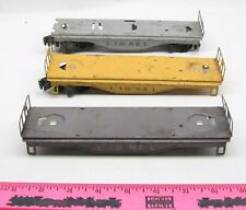 Lionel~ 3 ~ tin plate flat car / working caboose frame