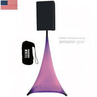 SKRIMS White Triple Sided DJ Scrim, Tripod Speaker Stand Stretch Cover +FREE Bag