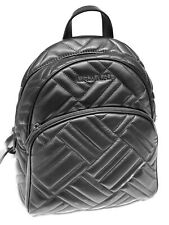 MICHAEL KORS ABBEY MEDIUM BACKPACK LEATHER QUILTED BLACK BLACK
