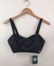 NWT Kendall And Kylie Pacsun Faux Leather Bralette Sweetheart Neckline Size S