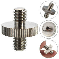 1/4'' Male to 1/4'' Male Threaded Camera Screw Adapter For Tripod Mount Holder