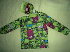 NWT*Justice Brothers*Hooded Pull over*Zombies*Skulls*SIZE XXXS 5*GREEN*Hoodie