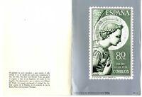 Grabado reproduccion del sello España Día del Sello 1956 Arcangel San Gabriel