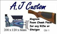 A.J Custom magnum Foam Cheek Piece for Beretta Browning Miroku + other Shotguns