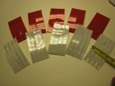 """SILVER-RED 6"""" strips 5-5 Reflective   Conspicuity Tape (10) 3""""x6"""""""