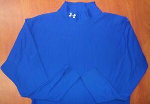 Under Armour Cold Gear Compression Performance Mock Ls Shirt Blue XL