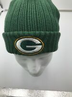 GREEN BAY PACKERS NFL VTG KNIT REEBOK GREEN RIBBED WINTER BEANIE CAP HAT!