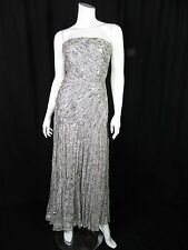 Murray Arbeid Saks Vintage Sheer Silk Chiffon Strapless Evening  Dress XS