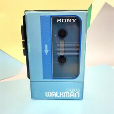 Blue Sony Walkman WM 9 Stereo Cassette Player Retro Classic Working Refurbished!