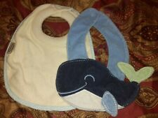 Lot Of 2 Baby Bibs Tommee Tippee Whale