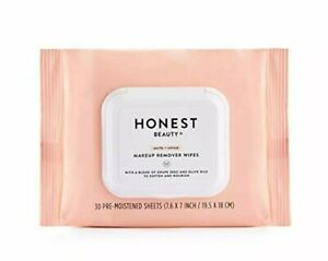 Honest Beauty Makeup Remover Wipes 30 SEALED Grape Seed Olive Oil Cloths