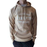 KINGPIN Skate Supply Hood Retro Cream Skateboard Hoody Pullover Hoodie