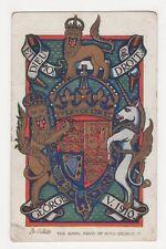 Royal Arm sof King George V, 9870 Postcard, B286