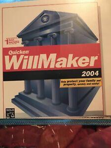 Quicken WILLMAKER PLUS 2004 Edition - Estate Planning Nolo Will Maker CDRom
