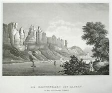 SÄCHSISCHE SCHWEIZ - BASTEI - Meyer's Universum - Stahlstich 1862