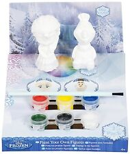 Sambro Frozen Elsa and Olaf Paint Your Own Figures (Pack of 2)